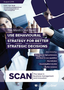 Use Behavioural Strategy for Better Strategic Decisions