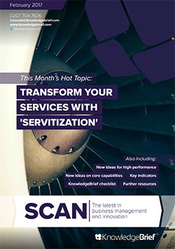 Transform your Services with 'Servitization'