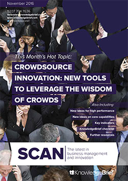 Crowdsource Innovation: New Tools to Leverage the Wisdom of Crowds
