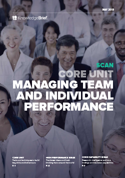 Managing Team and Individual Performance