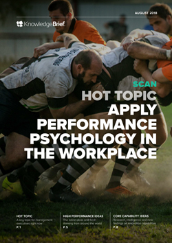 Apply Performance Psychology in the Workplace