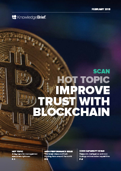 Improve Trust with Blockchain