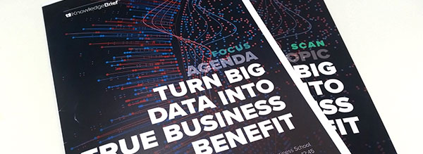 Innovation Insight: How to Turn Big Data into True Business Benefit